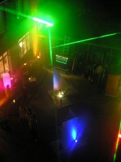 Lichtillumination - Hinterhof
